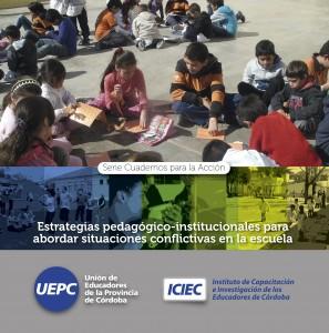 Tapa cuadernos para la acci´on Estrategias Pedagógicas